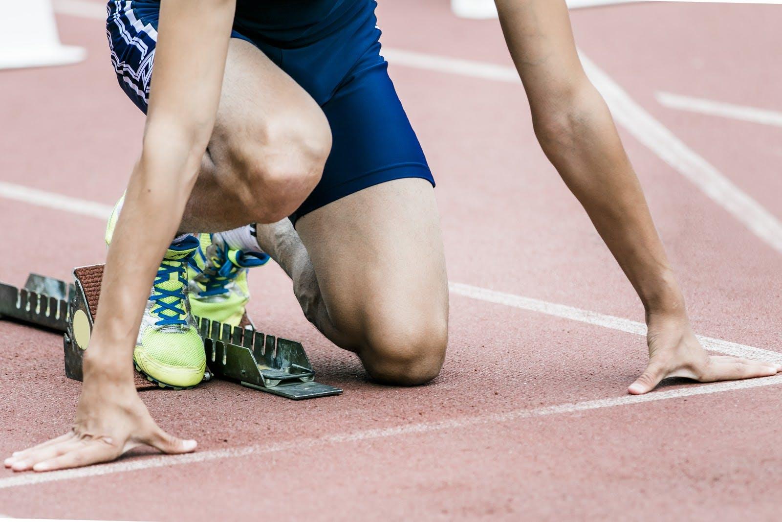 Sprinter vor dem Rennen