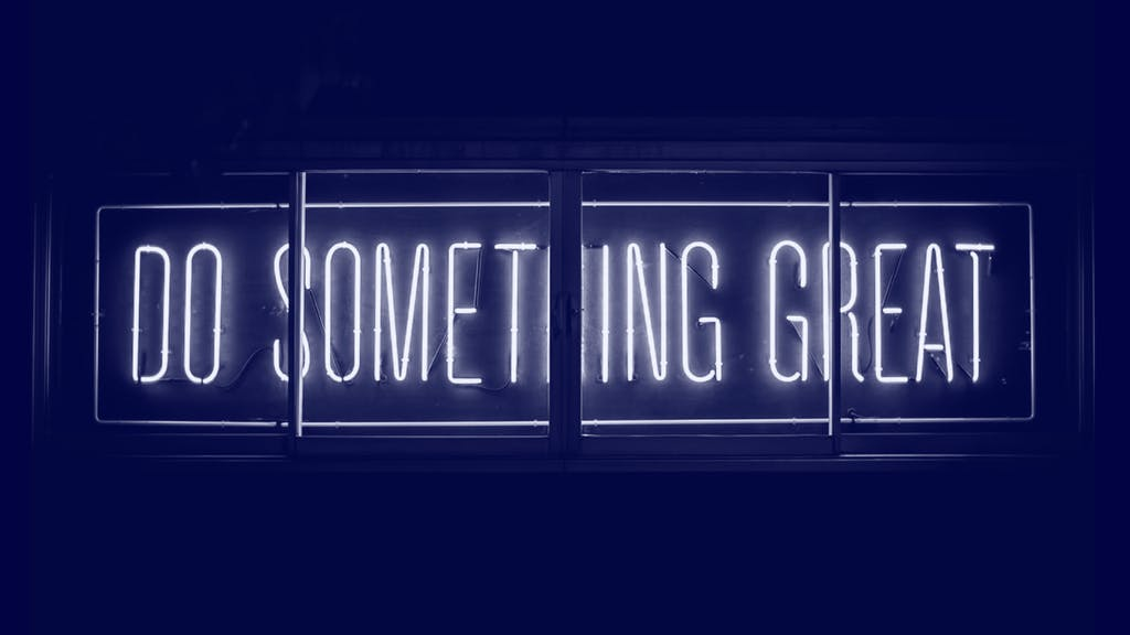 do something great Spruchbanner